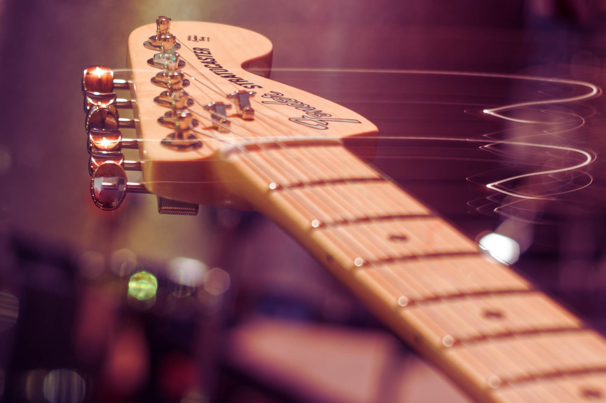 guitar keys photographed by Elsie Johnston