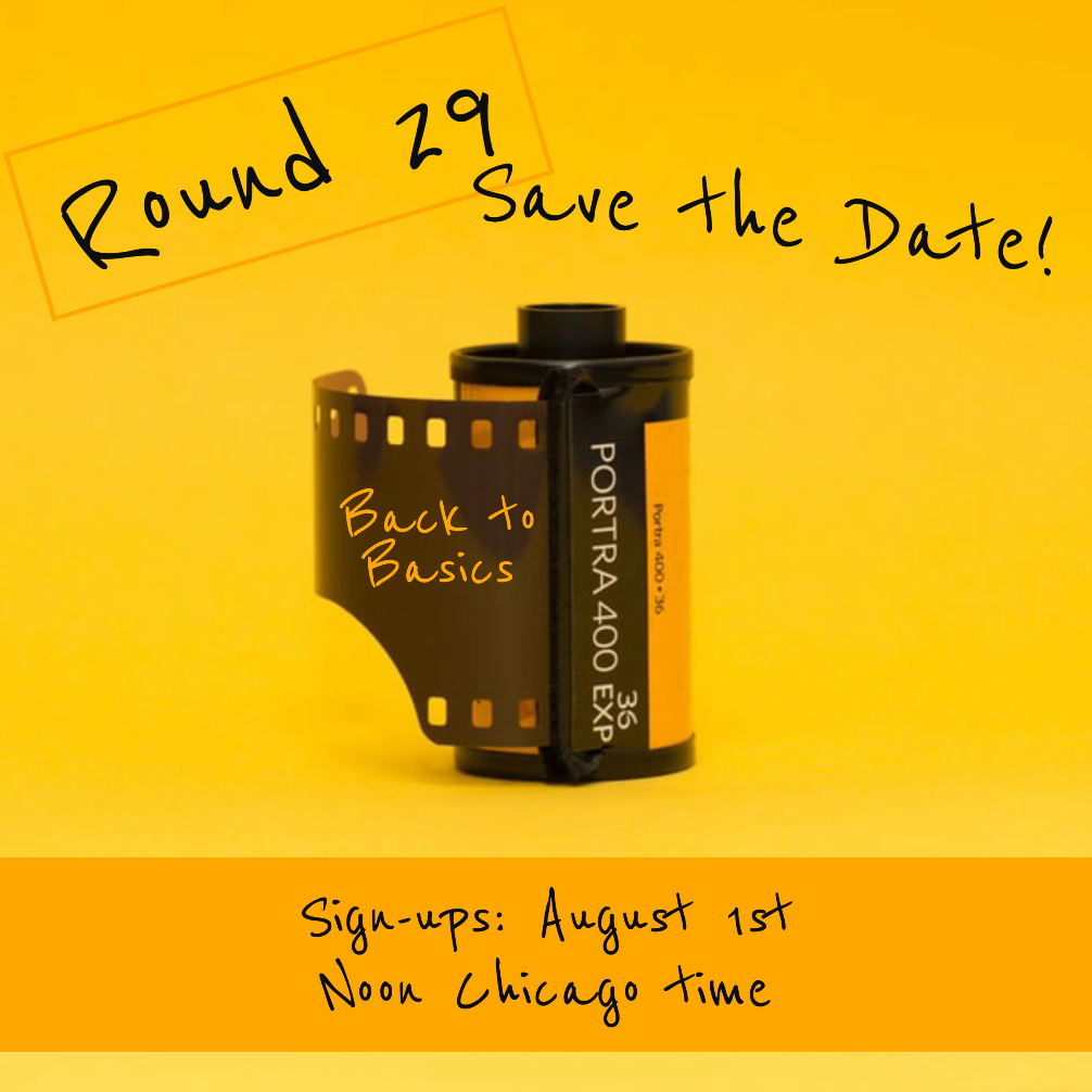 Save the Date for Round 29 Photography Scavenger Hunt Aug 1 2020