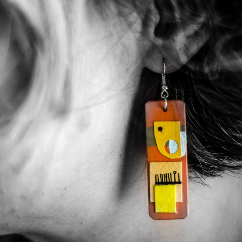 earring by Jim Welsh