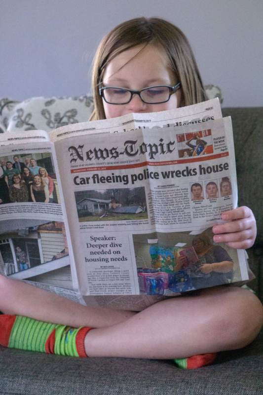 newspaper by debbie debaeremaeker